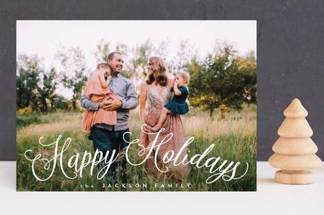 Fun Script Holiday Photo Cards