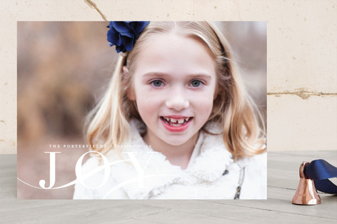 Elegant Joy Holiday Photo Cards