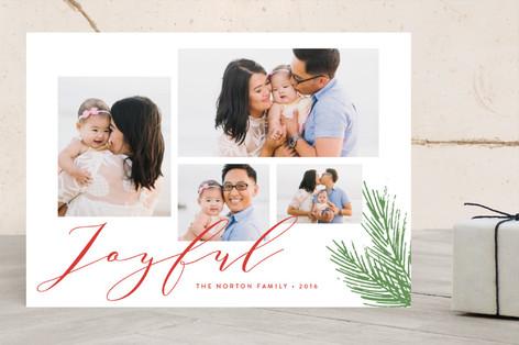 Joyful Holiday Wishes Holiday Photo Cards