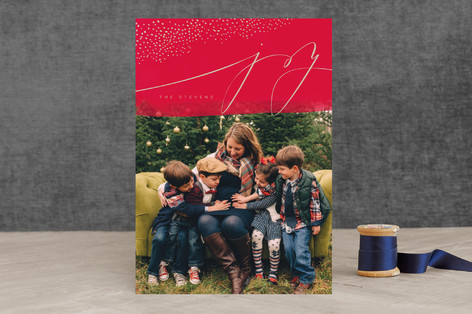 Sparkled Joy Holiday Photo Cards