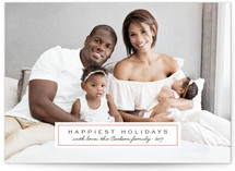 Classic Label Holiday Photo Cards