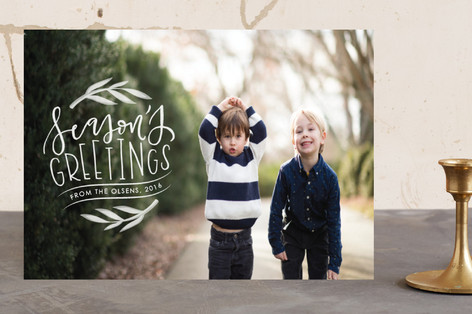 Seasons greetings badge Holiday Photo Cards