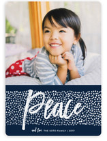 Peace Dots Holiday Photo Cards