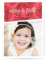 textured ikat Holiday Photo Cards