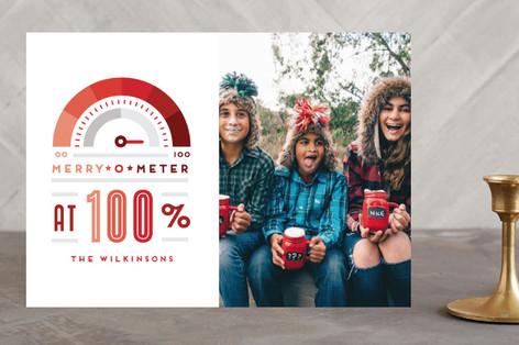 Merry O Meter Holiday Photo Cards