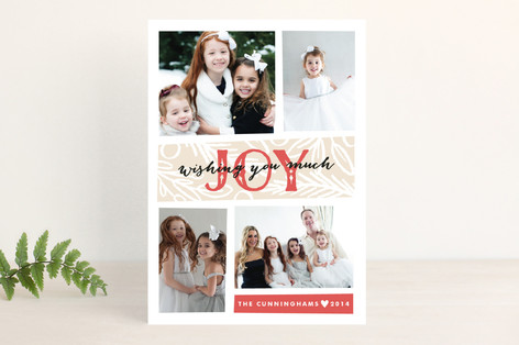 Tiles of Joy Holiday Photo Cards