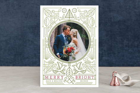 Modern Doves Holiday Photo Cards
