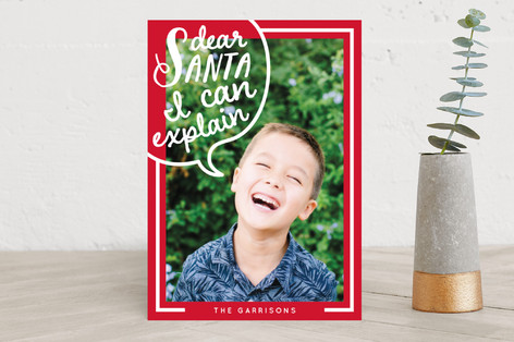 speaking of santa Holiday Photo Cards