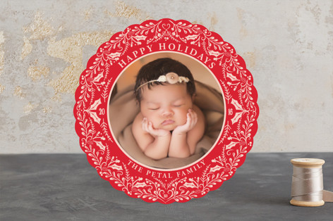 Holly & Pine Holiday Photo Cards