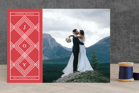 symmetric Holiday Photo Cards