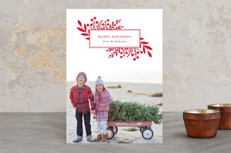 Branches and Berries Holiday Photo Cards