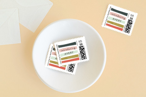 abstract strokes Baby and Kids Stamps