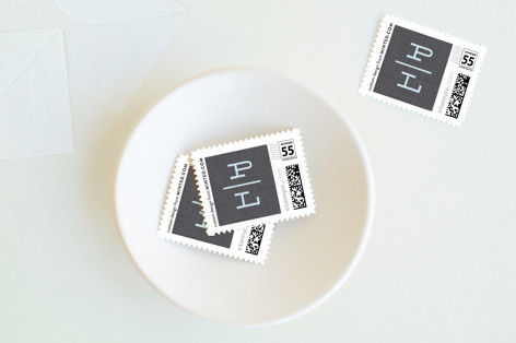 Monogram Tag Baby and Kids Stamps