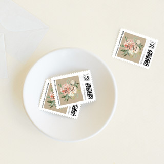 Floral Filled Baptism Baby and Kids Stamps