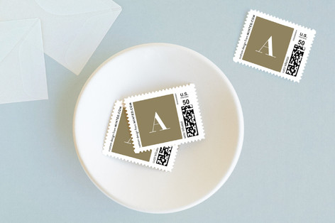 Chic Grid Baby and Kids Stamps