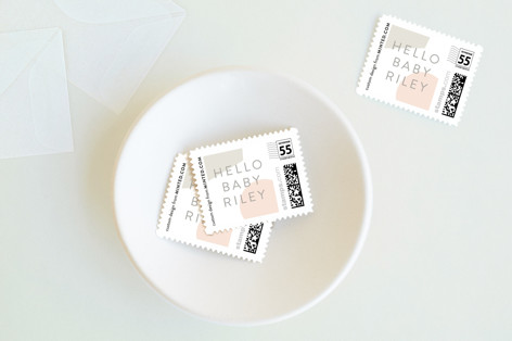 Abstract Baby and Kids Stamps