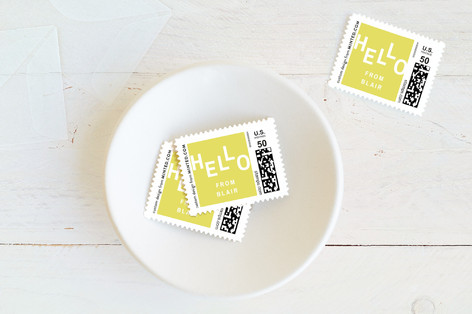 Scattered Hello Baby and Kids Stamps