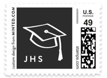 Lettered Graduate Baby and Kids Stamps