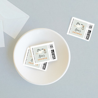 Stork Delivery Baby and Kids Stamps
