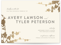 In Bloom Foil-Pressed Save the Date Petite Cards