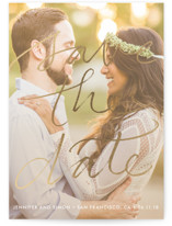 Boutique Foil-Pressed Save the Date Petite Cards