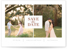 Join Us Letterpress Save the Date Cards