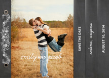 Chalkboard Save the Date Minibook™ Cards