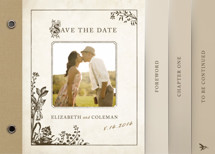 Story Book Save the Date Minibook&amp;trade; Cards
