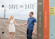 Story Book Wedding Save the Date Minibook™ Cards