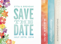 Tropical Date Save the Date Minibook&amp;trade; Cards