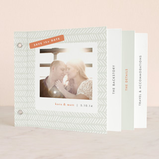Herringbone Save the Date Minibook™ Cards