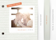 Herringbone Save the Date Minibook&amp;trade; Cards