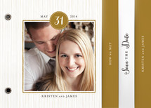 Line Frame Save the Date Minibook™ Cards