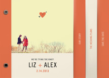 Cupid&#039;s Arrow Save the Date Minibook&amp;trade; Cards