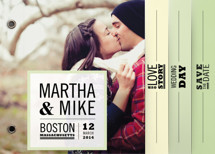 Our Love Story Save the Date Minibook&amp;trade; Cards