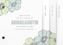 Love in Bloom Save the Date Minibook&amp;trade; Cards