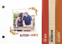 Autumn Blossoms Save the Date Minibook&amp;trade; Cards