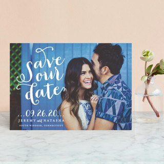 Swirly Save the Date Petite Cards