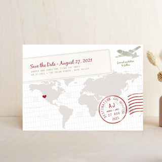 A Faraway Destination Save the Date Petite Cards
