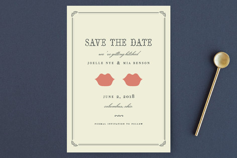 Kiss + Kiss Save the Date Petite Cards