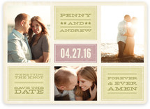 Forever and Ever Amen Save the Date Magnets
