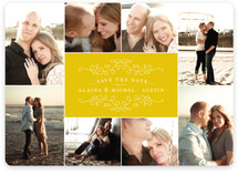 Classic Collage Save the Date Magnets