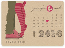 Tiptoe Kiss Save the Date Magnets