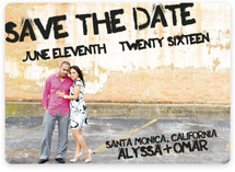 Boardwalk Stencil Save the Date Magnets