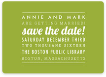The Square Type Save the Date Magnets