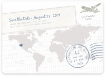 A Faraway Destination Save the Date Magnets
