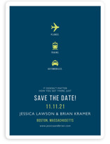 Planes Trains and Automobiles Save the Date Magnets
