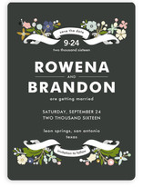 Banner and Branches Save the Date Magnets