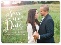 Charmed Calligraphy Save the Date Magnets