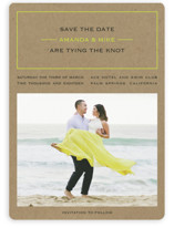Vintage Kraft Save the Date Magnets
